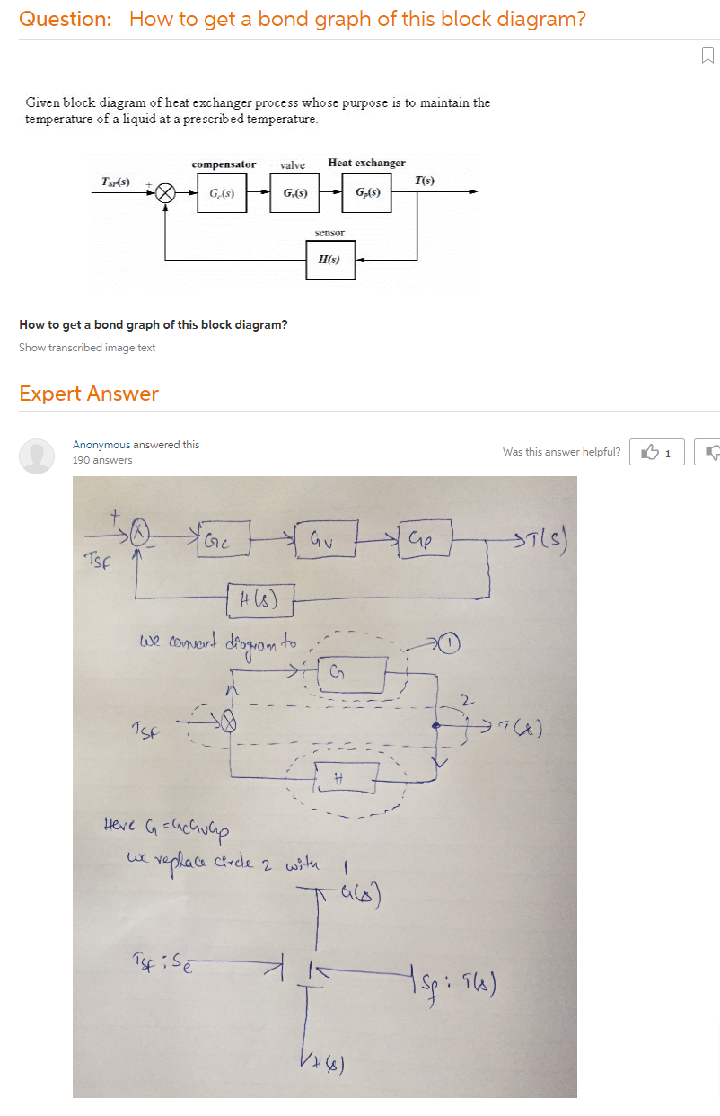 How To Get A Bond Graph Of This Block Diagram?