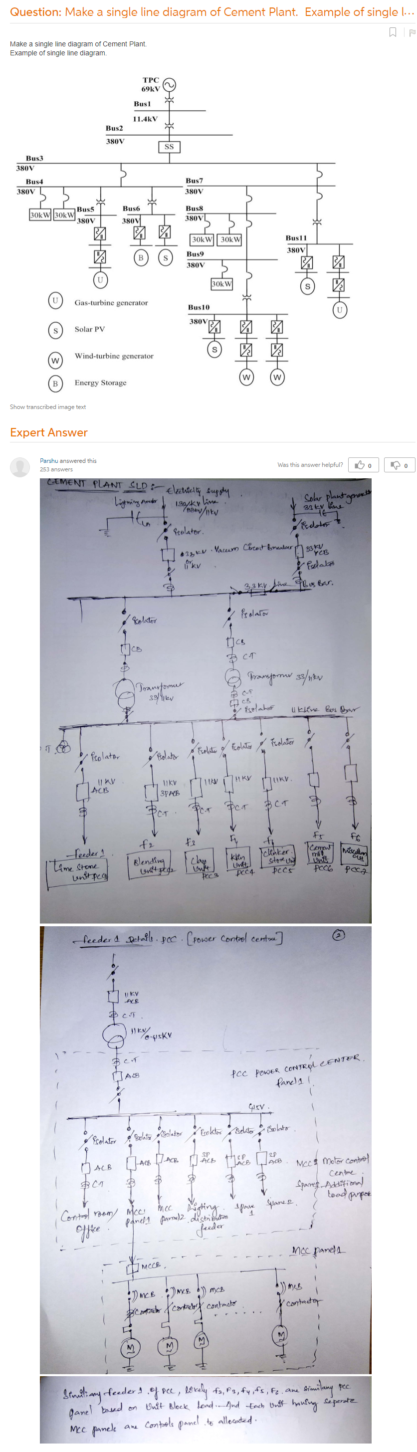 Make A Single Line Diagram Of Cement Plant. Example Of Single Line Diagram.