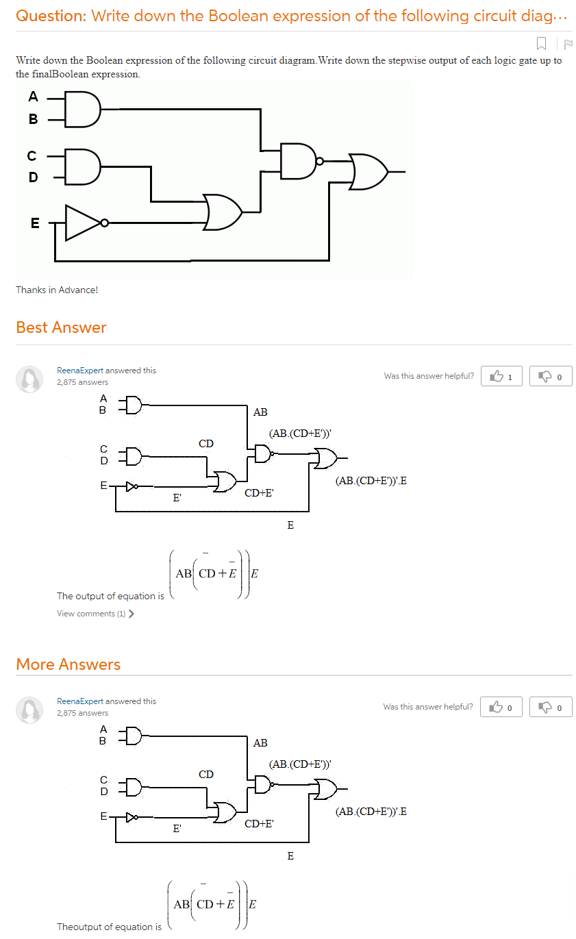 Write Down The Boolean Expression Of The Following Circuit Diagram.Write  Down The Stepwise Output Of Each Logic Gate Up To The FinalBoolean  Expression.Thanks In Advance!